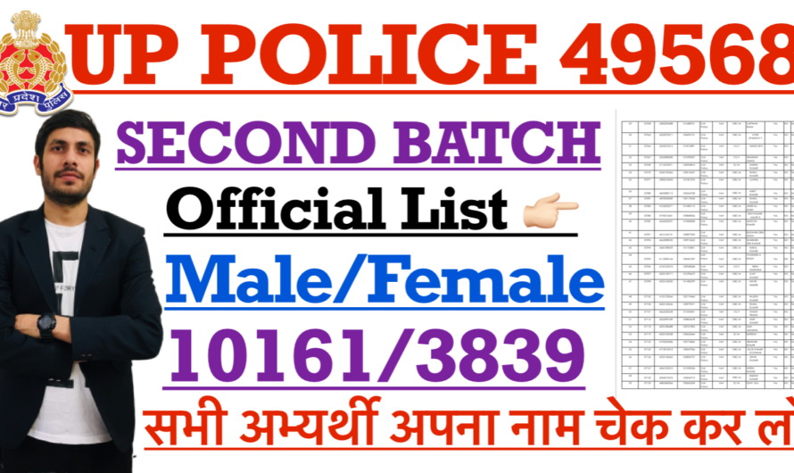 UP POLICE 49568 SECOND BATCH 14000 JTC LIST